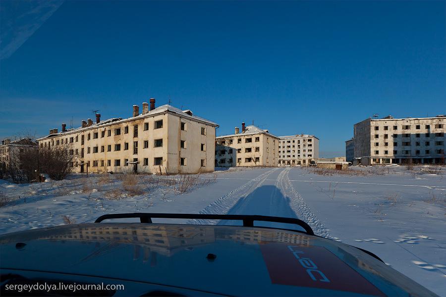 4165 Заброшенный город Кадыкчан на Чукотке
