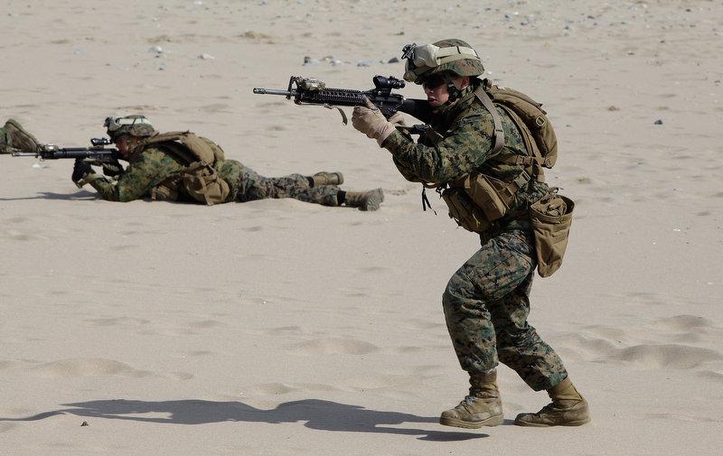 4204 Совместные учения южнокорейских и американских морпехов