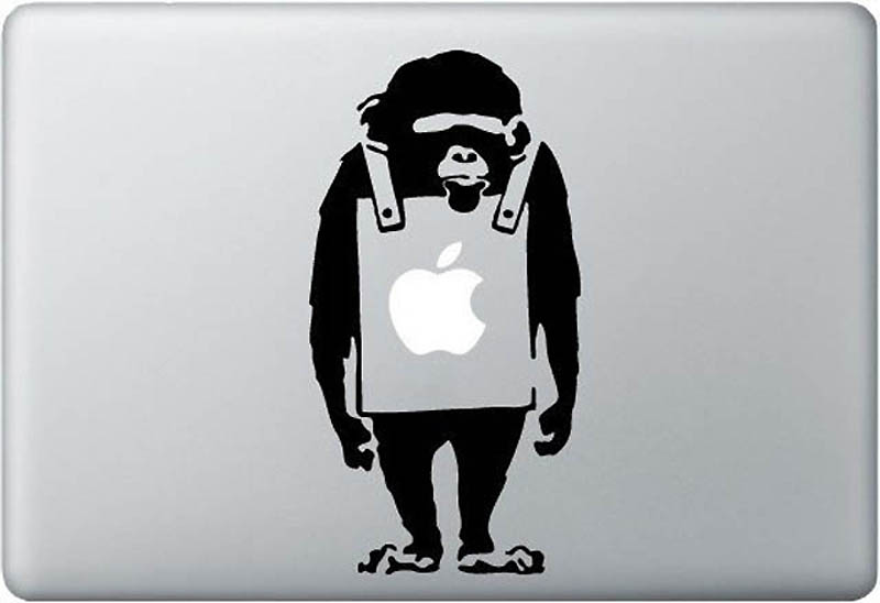 4418 50 креативных наклеек на MacBook