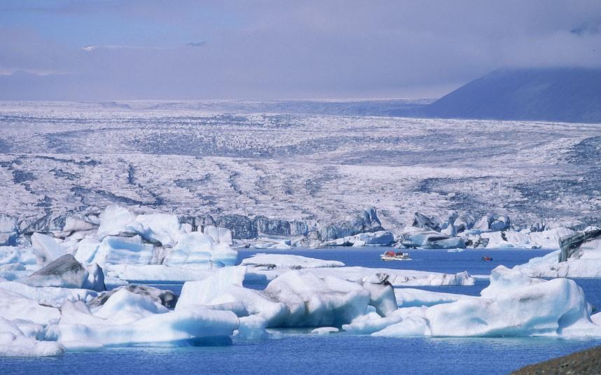 5119 Голубые айсберги и ледники Исландии
