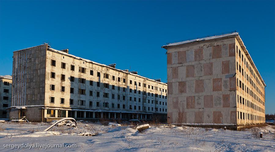 5151 Заброшенный город Кадыкчан на Чукотке