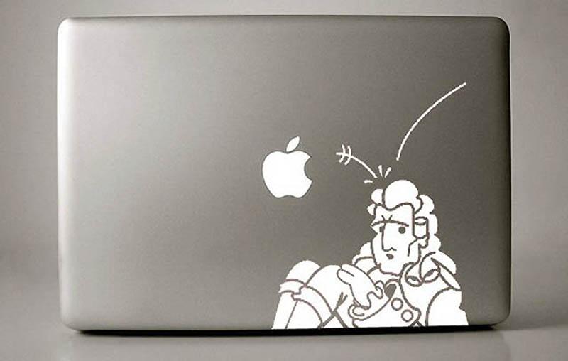 5166 50 креативных наклеек на MacBook