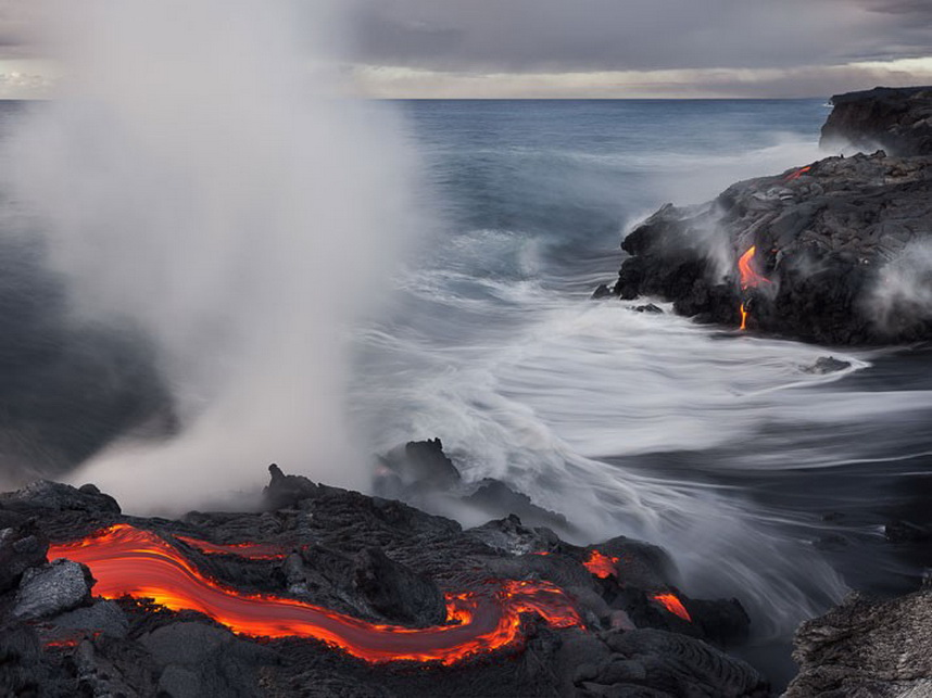 5185 Любитель лавы – фотограф вопасной близости отвулкана наГавайях