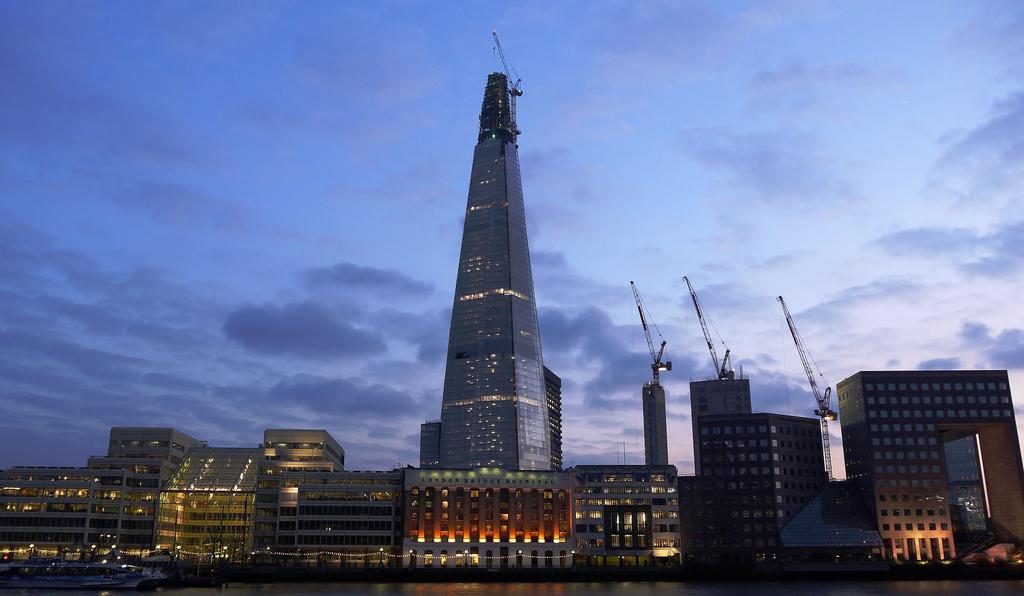 647 Строительство небоскреба Shard London Bridge