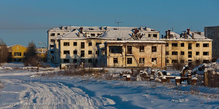 7147 Заброшенный город Кадыкчан на Чукотке