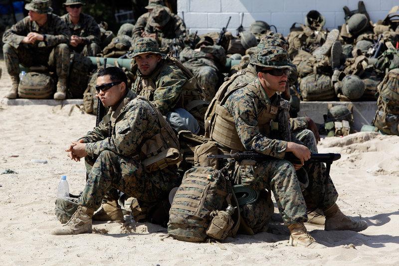 7179 Совместные учения южнокорейских и американских морпехов