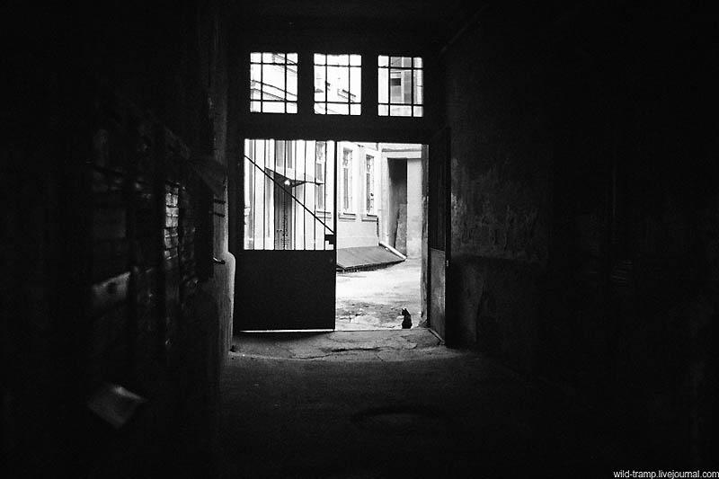 796 Черно белое закулисье одесских дворов