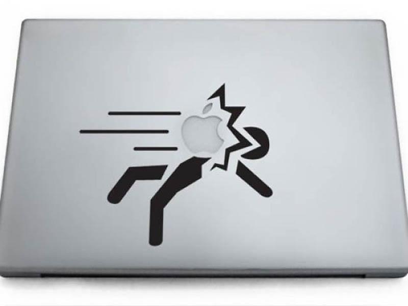 8156 50 креативных наклеек на MacBook