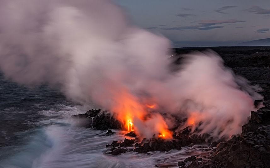 8172 Любитель лавы – фотограф вопасной близости отвулкана наГавайях