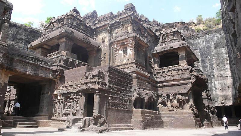 822 Эллора пещерные храмы Индии