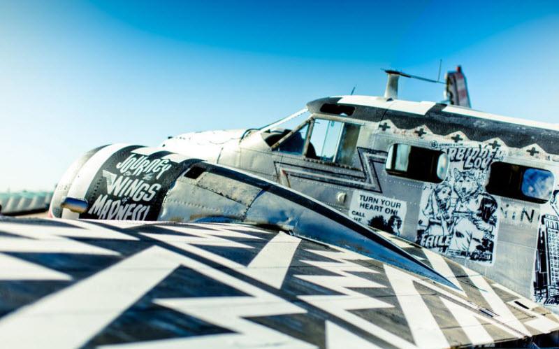 888 Проект Boneyard – уличные художники расписали граффити списанные военные самолеты
