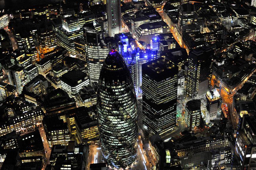 897 Энергопотребляющий Лондон с высоты птичьего полета