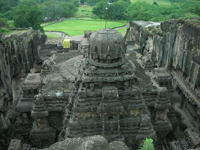 921 Эллора пещерные храмы Индии