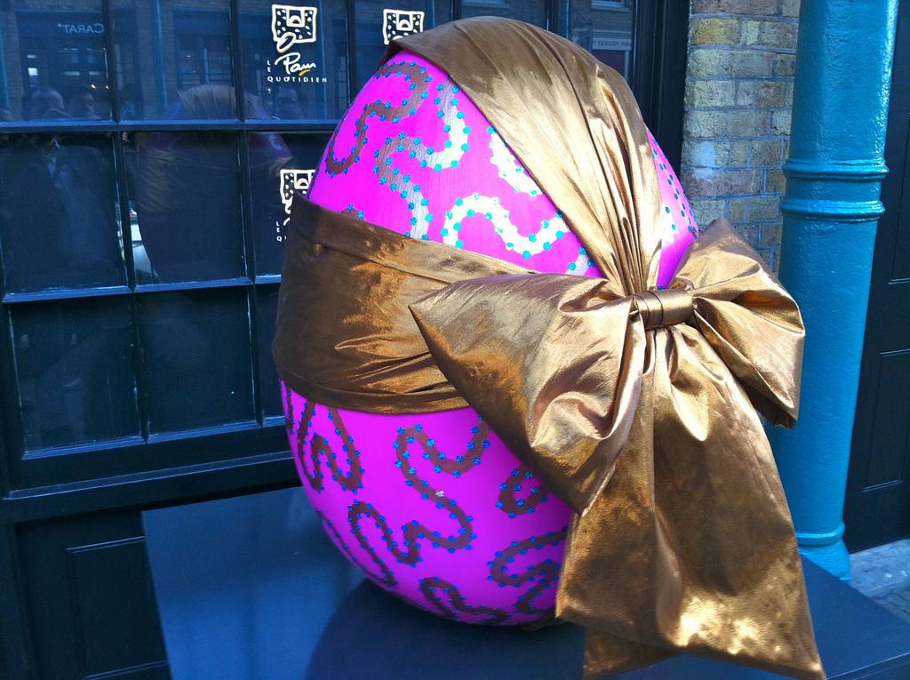 944 Большая пасхальная охота за расписными яйцами в Лондоне