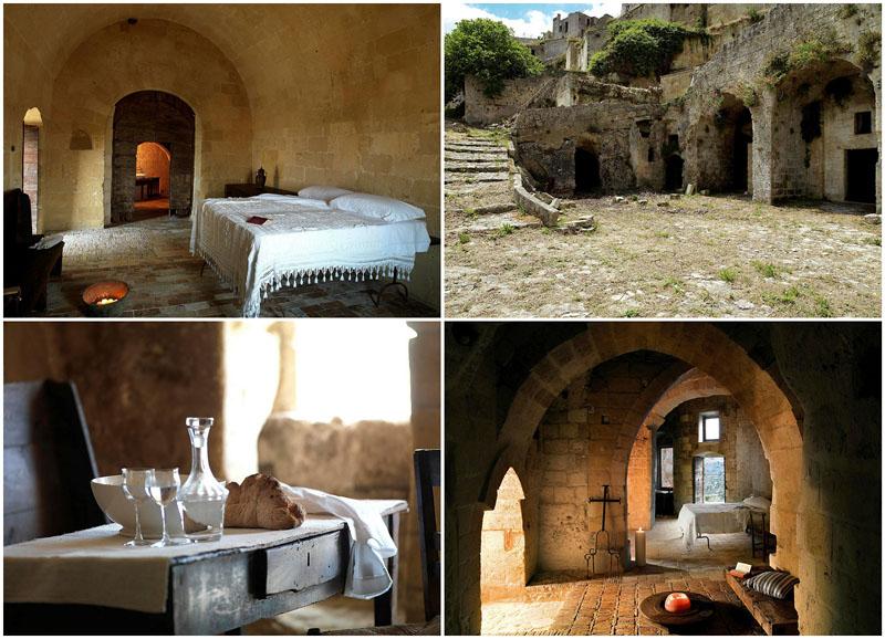 BIGPIC38 Один из лучших отелей мира – в средневековой крепости Матера