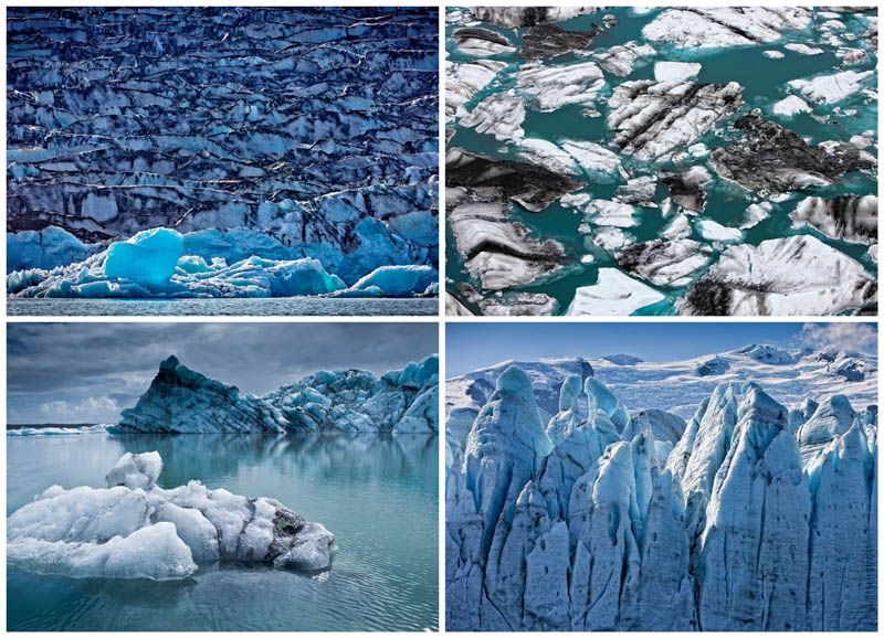Голубые айсберги и ледники Исландии