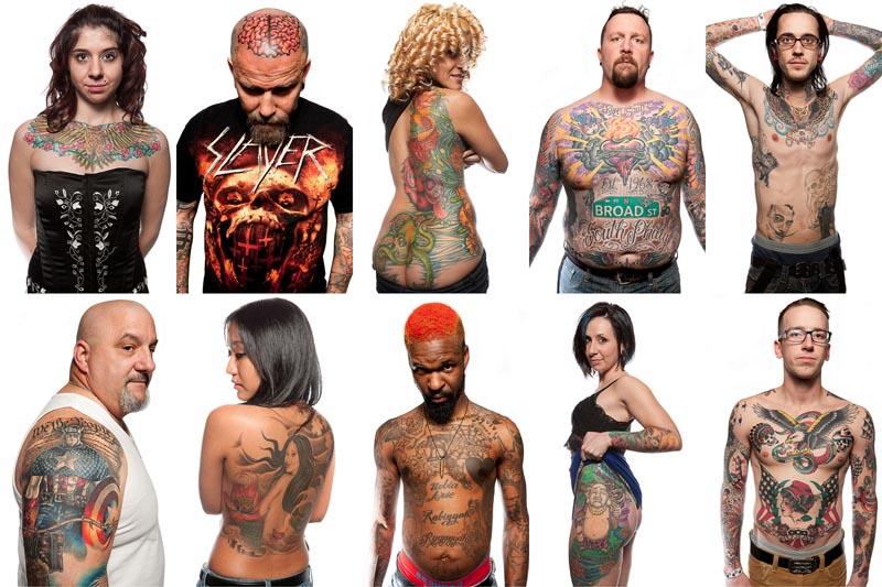 Фотопортреты с фестиваля татуировок в Филадельфии