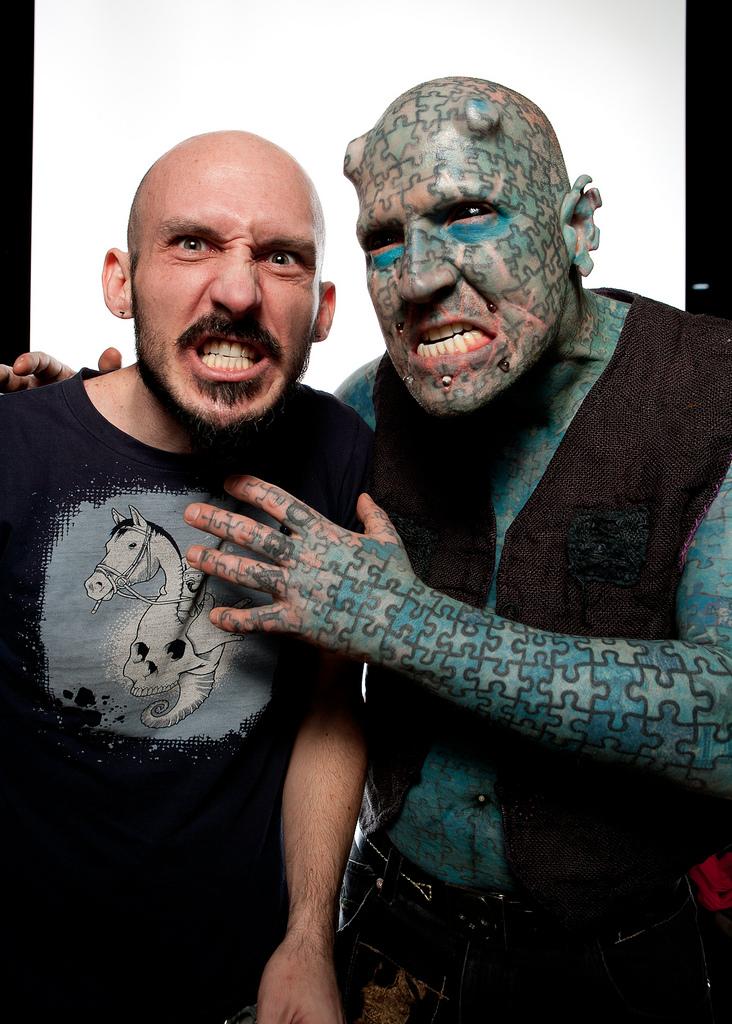 BIGPIC76 Фотопортреты с фестиваля татуировок в Филадельфии