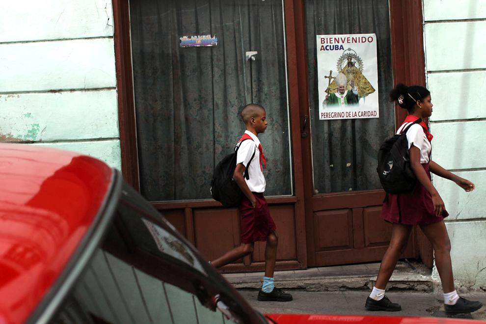 bp315 Папа Бенедикт XVI приехал на Кубу