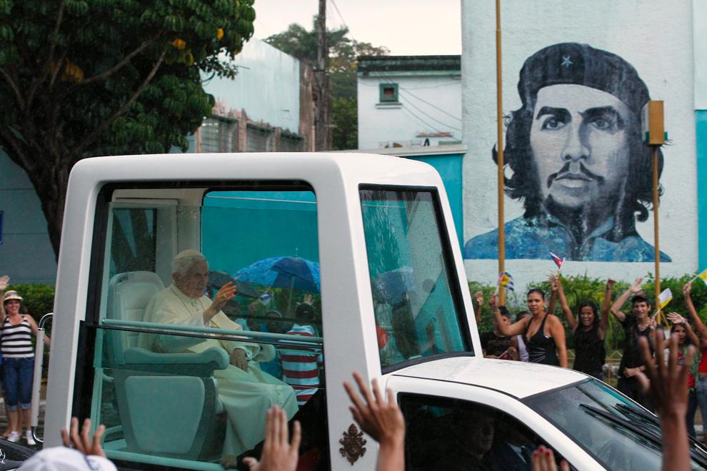 bp442 Папа Бенедикт XVI приехал на Кубу