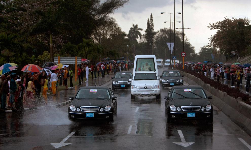 bp491 Папа Бенедикт XVI приехал на Кубу