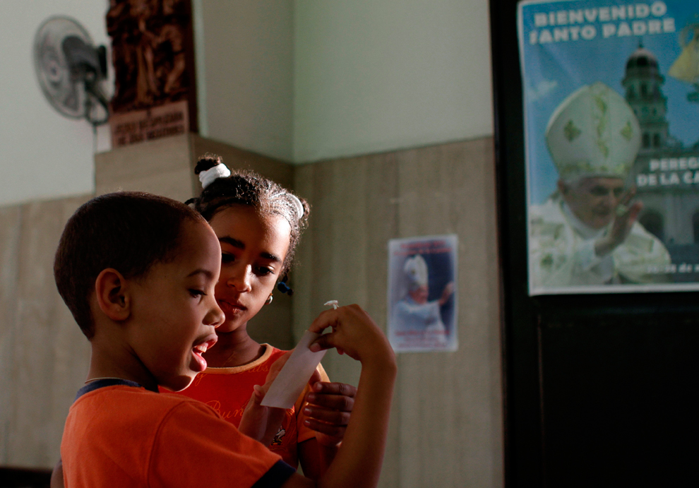 bp85 Папа Бенедикт XVI приехал на Кубу