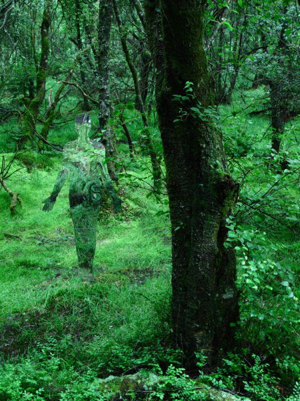 iskustvo 0004 Скульптуры призраки в шотландском лесу