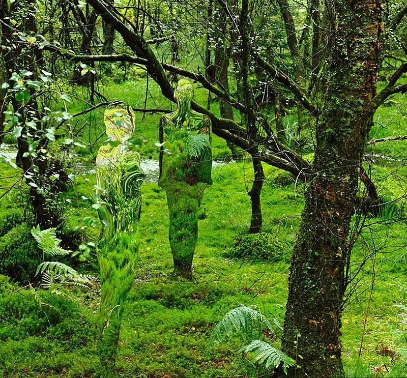 sD1sd Скульптуры призраки в шотландском лесу