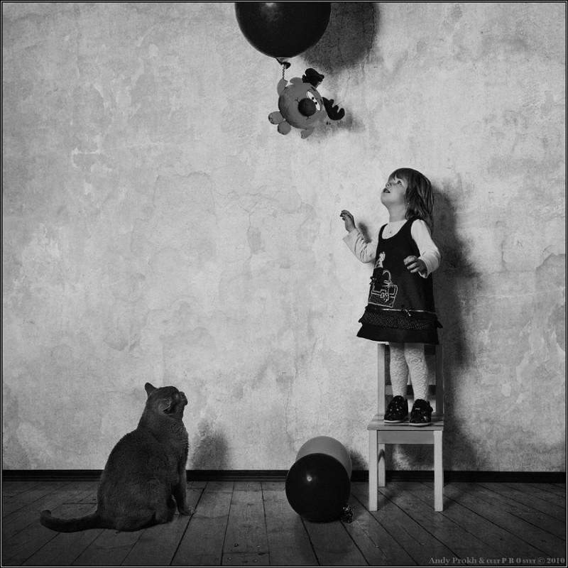 воздухоплаватель 800x800 Маленькая девочка и кот Том