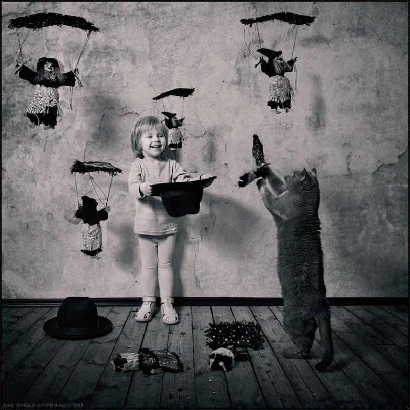 как поймать ведьму 800x800 Маленькая девочка и кот Том