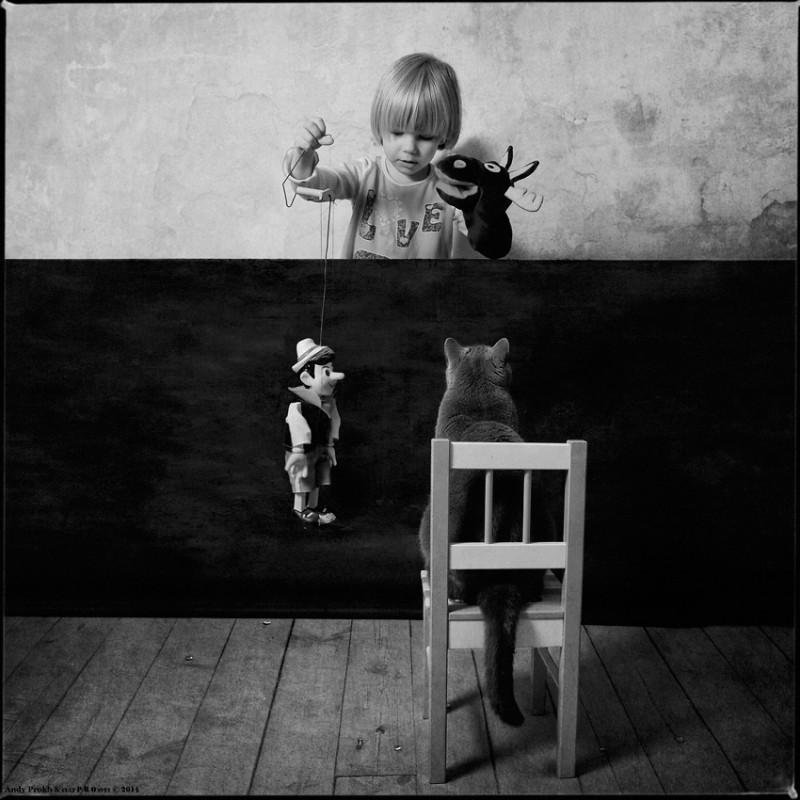 кукловод 800x800 Маленькая девочка и кот Том