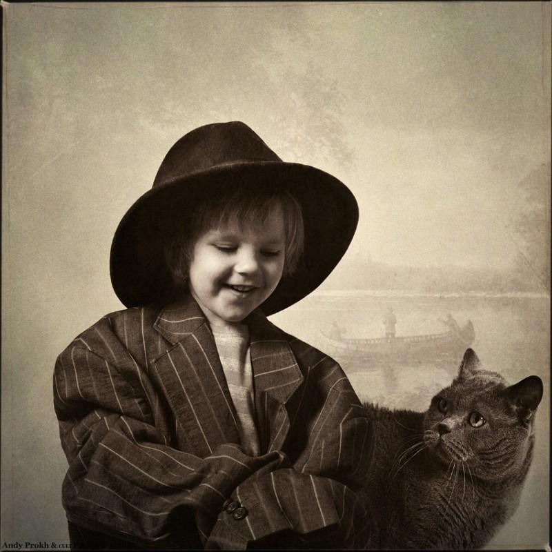 по следам гека 800x800 Маленькая девочка и кот Том