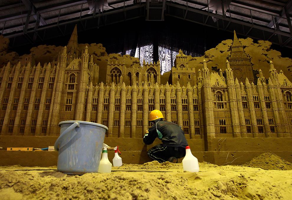 1031 Выставка песочных скульптур на дюне Тоттори