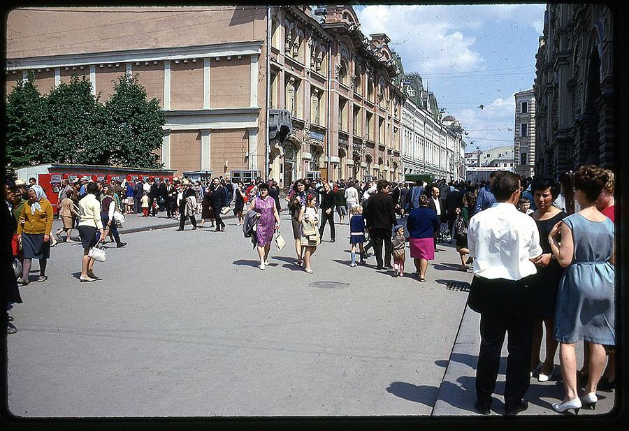11100 Москва 1969 года в объективе американского фотографа