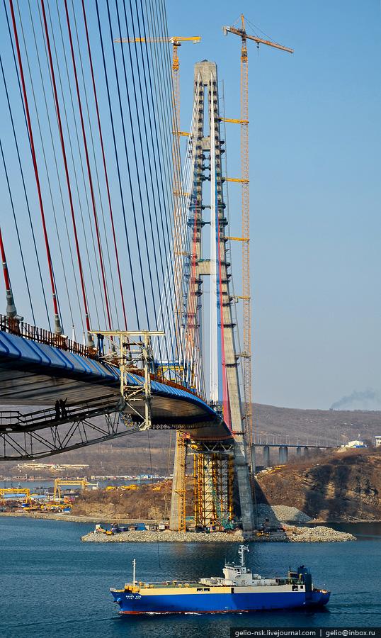 11159 Мост на остров Русский во Владивостоке (Апрель 2012)