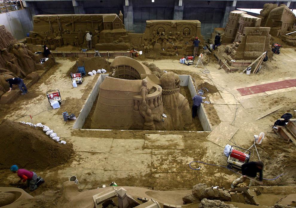1134 Выставка песочных скульптур на дюне Тоттори