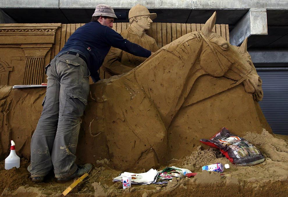 1135 Выставка песочных скульптур на дюне Тоттори