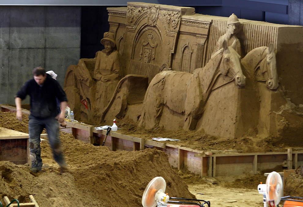 1230 Выставка песочных скульптур на дюне Тоттори
