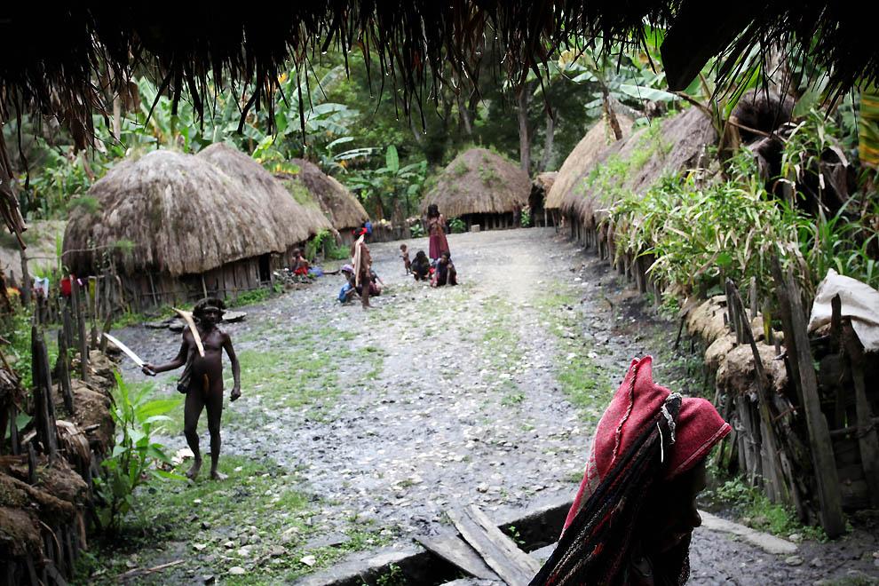 1303 Племя Дани из Западной Папуа