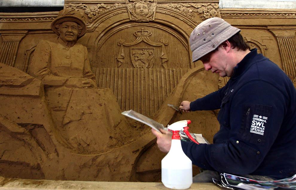 1328 Выставка песочных скульптур на дюне Тоттори