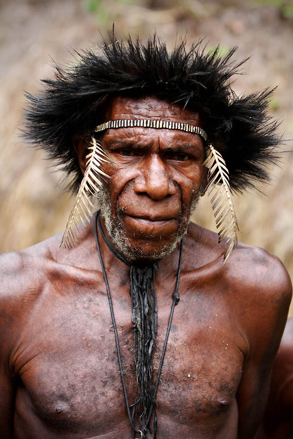 1760 Племя Дани из Западной Папуа