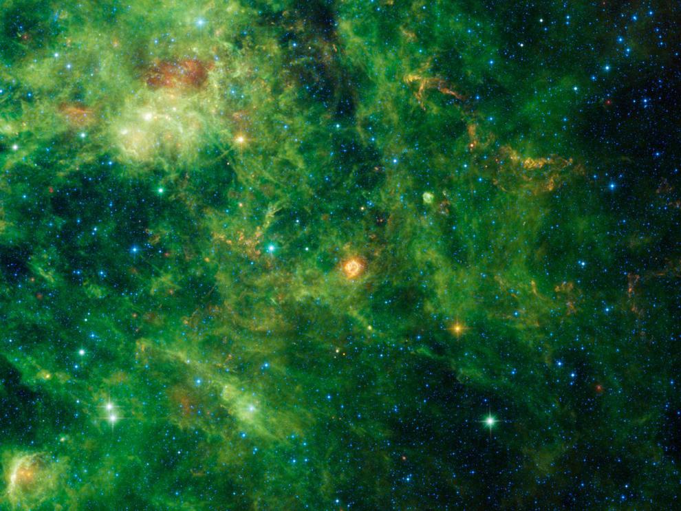 Зеленые картинки космос
