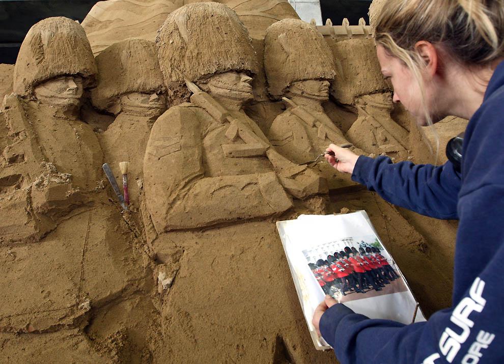 358 Выставка песочных скульптур на дюне Тоттори