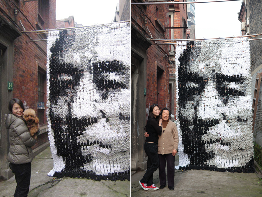 4119 Портрет из 750 пар носков