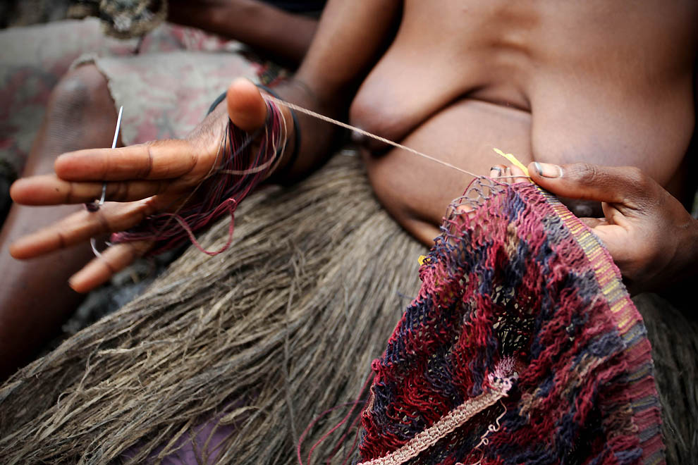 4135 Племя Дани из Западной Папуа