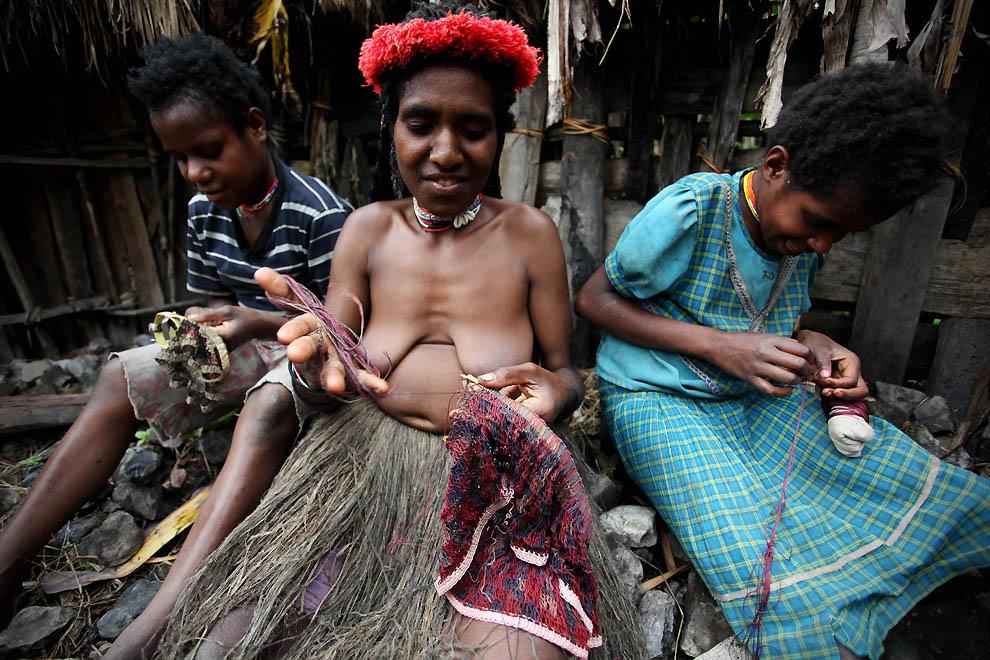 5120 Племя Дани из Западной Папуа