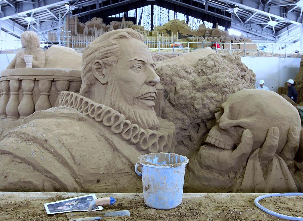 534 Выставка песочных скульптур на дюне Тоттори