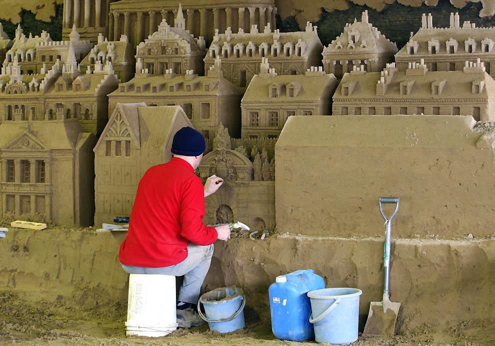 632 Выставка песочных скульптур на дюне Тоттори