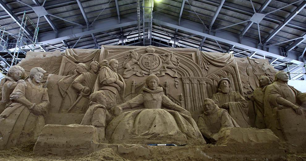 829 Выставка песочных скульптур на дюне Тоттори