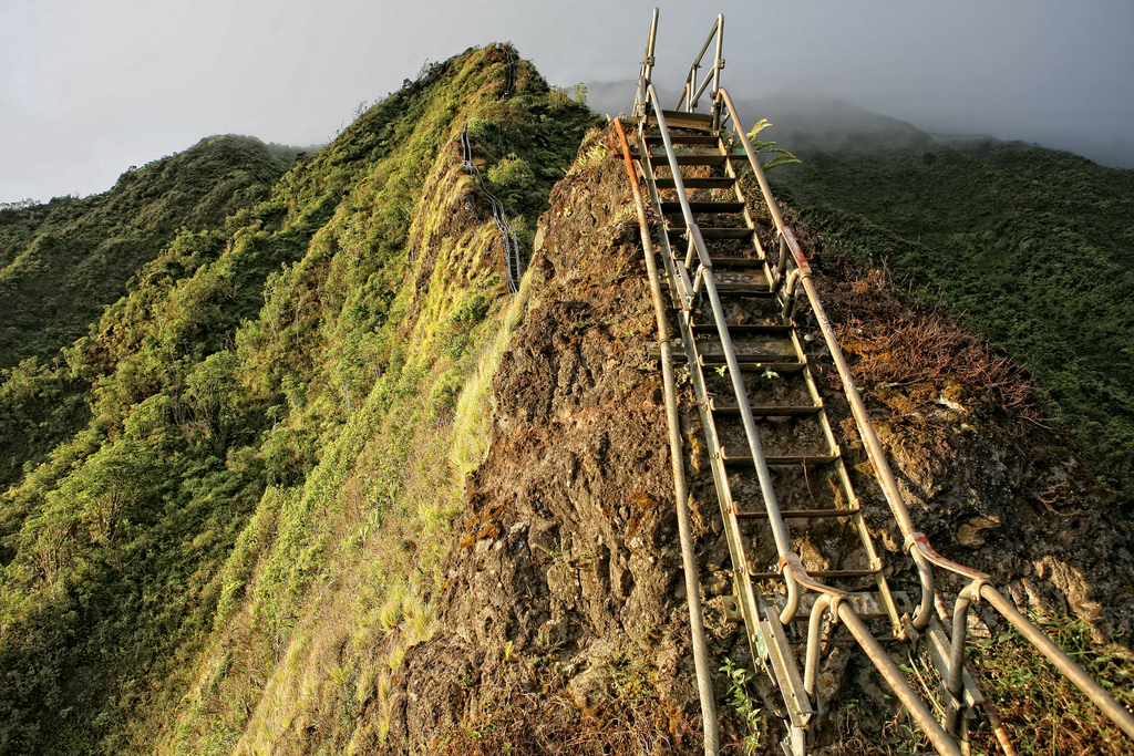9114 Лестница Хайку на Гаваях